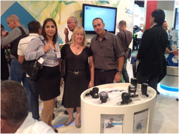 Gols Patents team with Aram Arad - Water mearsurement accessories at WATEC 2013