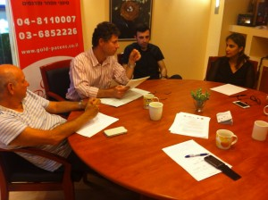 Gold Patents Team discussing the conference - 2 - from IP to NP - 2013