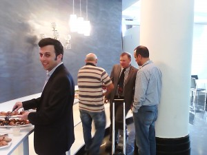 Patent Attorney Rudik Ulman enjoying treats at Gold Patents spring seminar - May 2015